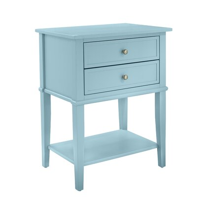 Winfield End Table With Storage Color: Blue