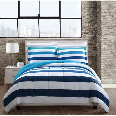 Connerton Stripe Comforter Set Size: King
