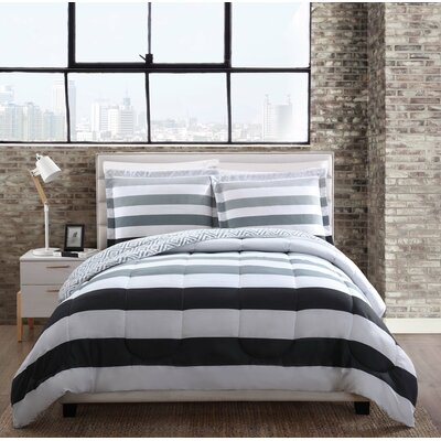 Berkeley Stripe Comforter Set Size: King
