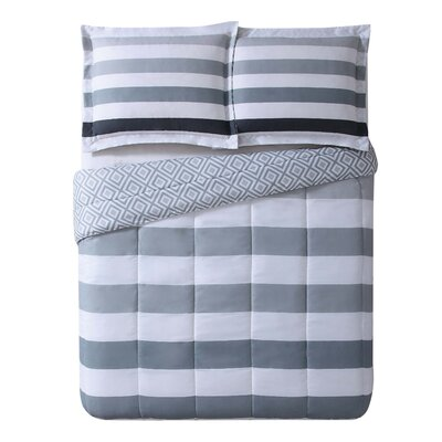 Thornby Stripe Comforter Set Size: King