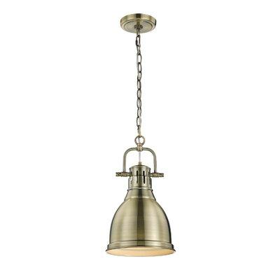 Balden 1-Light Mini Pendant Finish: Aged Brass, Shade Color: Rubbed Bronze