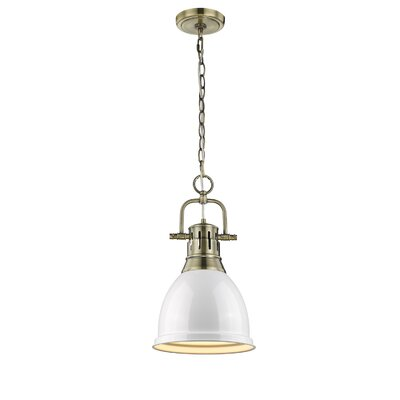 Balden 1-Light Mini Pendant Finish: White, Shade Color: White