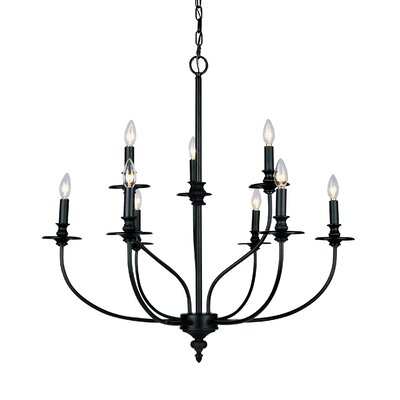 Giverny 9-Light Candle-Style Chandelier