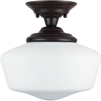 Panacea Traditional 1-Light Semi Flush Mount Finish: Heirloom Bronze, Size: 11.75 H x 11.5 W x 11.5 D