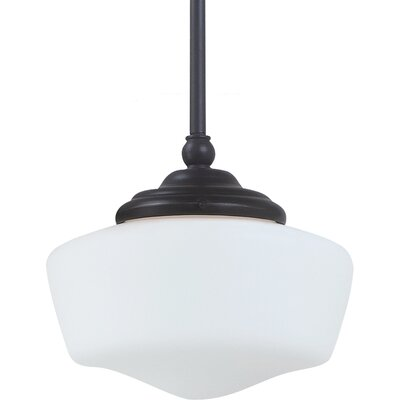 Panacea 1-Light Glass Shade Pendant Finish: Heirloom Bronze, Bulb Type: 60 W Line Medium