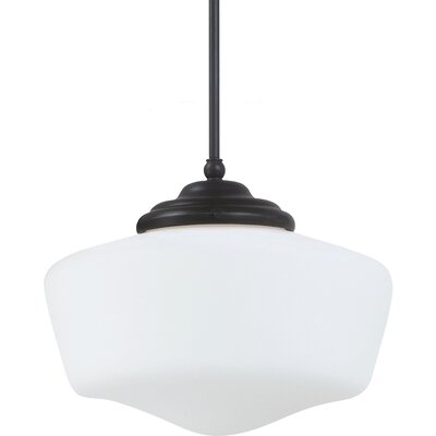 Panacea 1-Light Abstract Shade Pendant Bulb Type: 75 W Line Medium, Finish: Brushed Nickel