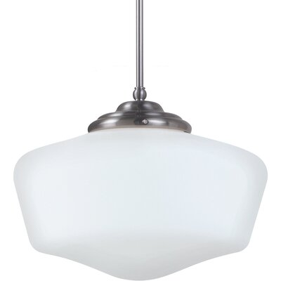 Northport 1-Light LED Schoolhouse Pendant Finish: Chrome, Size: Large