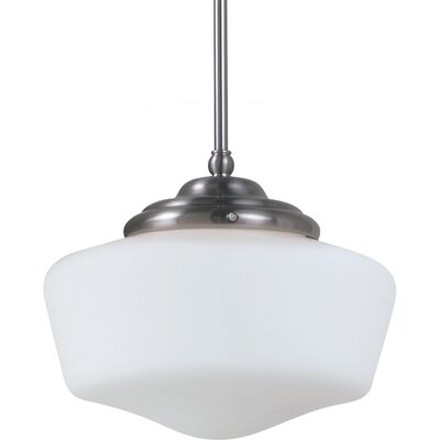 Panacea 1-Light Pendant Color: Brushed Nickel, Bulb Type: 75 W Line Medium