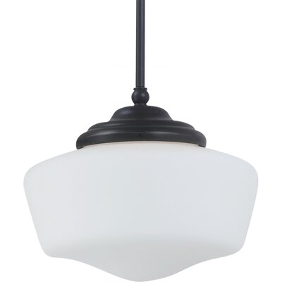 Panacea 1-Light Pendant Color: Heirloom Bronze, Bulb Type: 75 W Line Medium