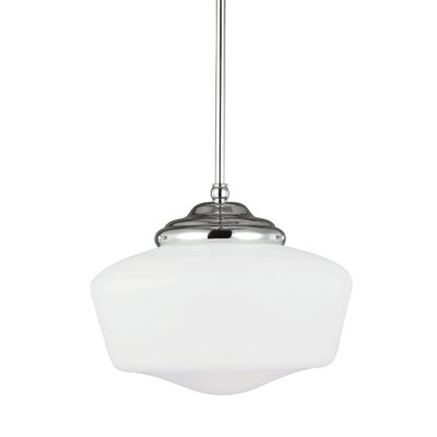 Panacea 1-Light Abstract Shade Schoolhouse Pendant Size: 61.75 H x 13 W x 13 D