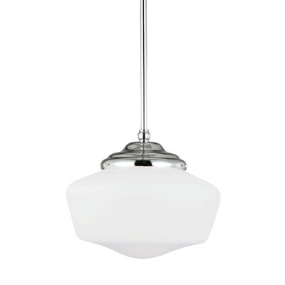 Panacea 1-Light Abstract Shade Schoolhouse Pendant Size: 60.75 H x 11.5 W x 11.5 D