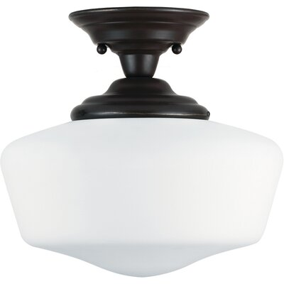 Panacea Traditional 1-Light Semi Flush Mount Finish: Heirloom Bronze, Size: 12 H x 13 W x 13 D