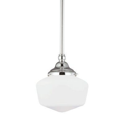 Panacea 1-Light Abstract Shade Schoolhouse Pendant Size: 58.5 H x 6.75 W x 6.75 D