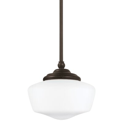 Panacea 1-Light Schoolhouse Pendant Color: Heirloom Bronze, Size: 12.25 H x 17 W x 17 D