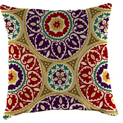 Truxton Outdoor Throw Pillow Fabric: Tabea Jewel