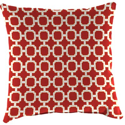 Truxton Outdoor Throw Pillow Fabric: Hockley Red