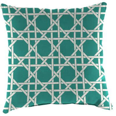 Truxton Outdoor Throw Pillow Fabric: Kane Aqua