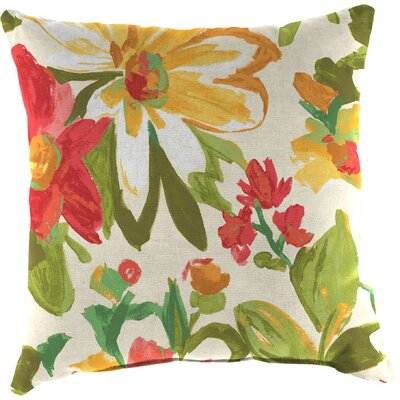 Truxton Outdoor Throw Pillow Fabric: Elberta Sunbright