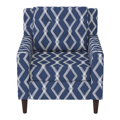 Greer Adobe Armchair Upholstery: Crossweave Blue OGA