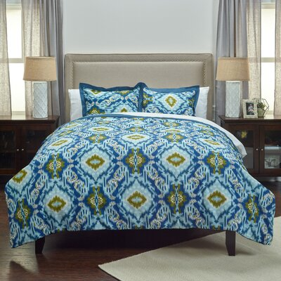 Clewiston 3 Piece Comforter Set Size: Queen