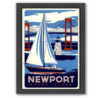 Nantucket Framed Vintage Advertisement Size: 11