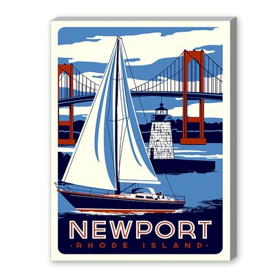 Nantucket Vintage Advertisement on Wrapped Canvas Size: 10