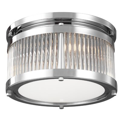 Breakwater Bay Josephine 2 Light Flush Mount