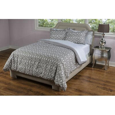 Lilly 3 Piece Comforter Set Color: Natural Taupe, Size: Queen