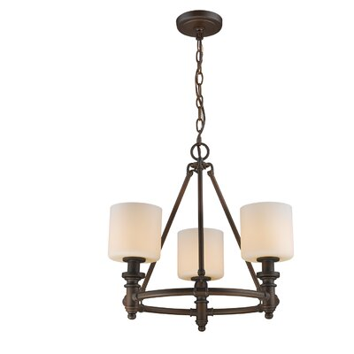 Mummert 3-Light Shaded Chandelier Finish: Rubbed Bronze