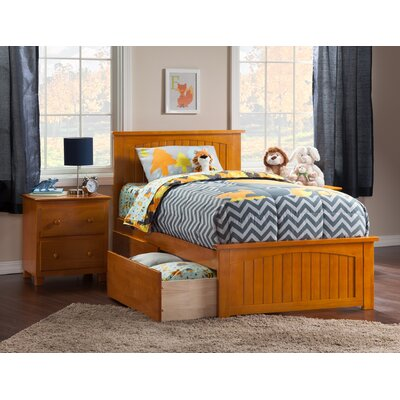 Graham Storage Platform Bed Size: Twin XL, Color: Caramel Latte
