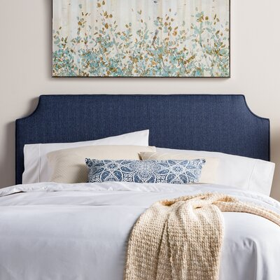 Northridge Upholstered Panel Headboard Size: Queen, Upholstery: Navy Blue