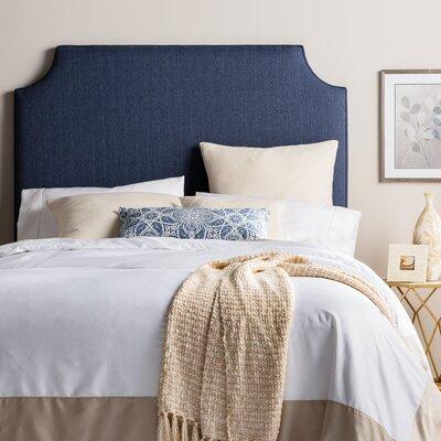 Stamford Roselle Upholstered Panel Headboard Size: Queen, Upholstery: Navy Blue