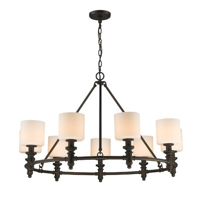 Mummert 9-Light Drum Chandelier Color: Rubbed Bronze