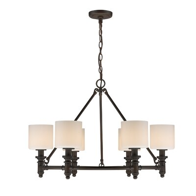 Union 6-Light Drum Chandelier Finish: Rubbed Bronze