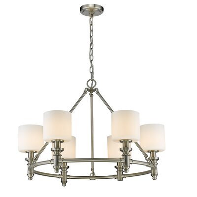 Mummert 6-Light Drum Chandelier Finish: Pewter