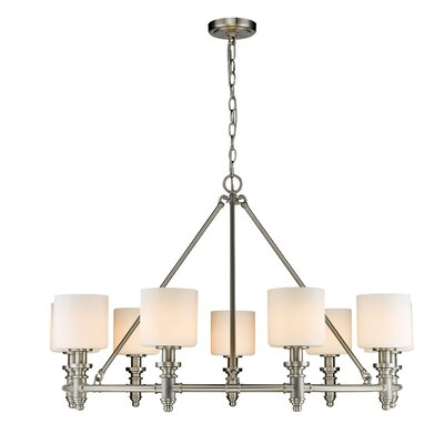 Union 9-Light Drum Chandelier Finish: Pewter
