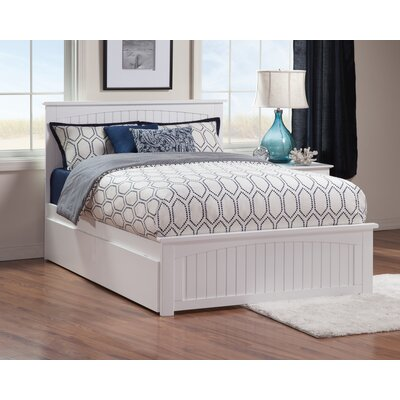 Oakmere Storage Panel Bed Size: Queen, Finish: White