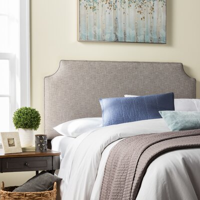 Stamford Roselle Upholstered Panel Headboard Size: Queen, Upholstery: Gray