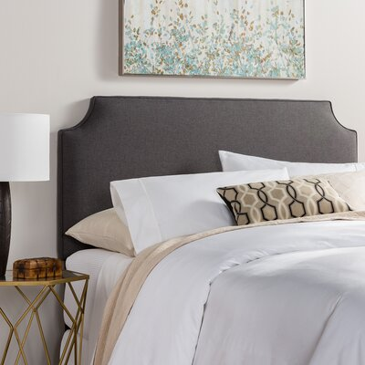 Rossan Upholstered Panel Headboard Size: Full, Upholstery: Charcoal Gray