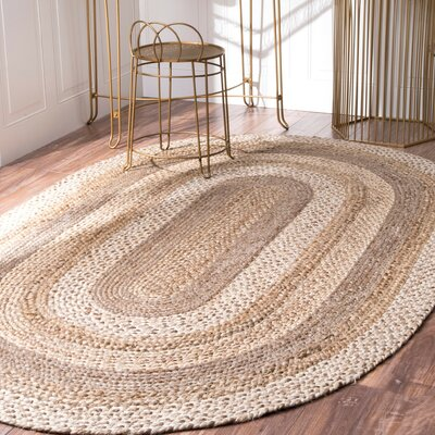 Ansonia Natural Area Rug Rug Size: Oval 5 x 8