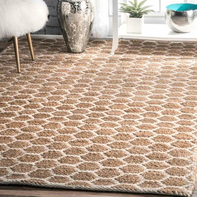 Stratford Hand-Woven Natural Area Rug Rug Size: Rectangle 76 x 96