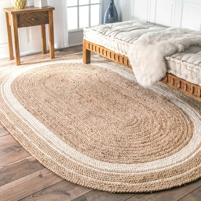 Barbados Beige/Bleached Area Rug Rug Size: Oval 5 x 8