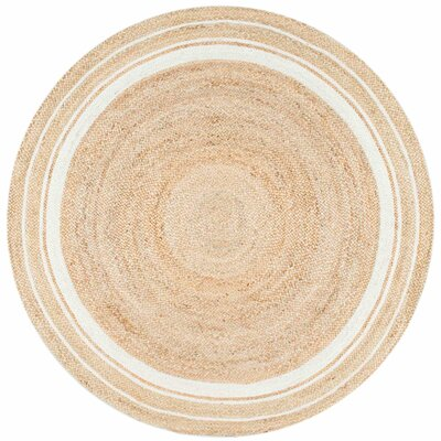 Barbados Beige/Bleached Area Rug Rug Size: Round 8