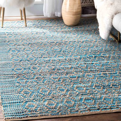 Breakwater Bay Stillwater Blue Area Rug