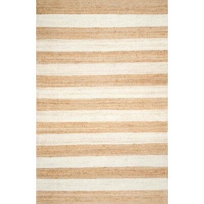 Stockton Springs Beige/Bleached Area Rug Rug Size: Rectangle 76 x 96
