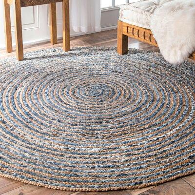Franconia Beige Area Rug Rug Size: Round 8