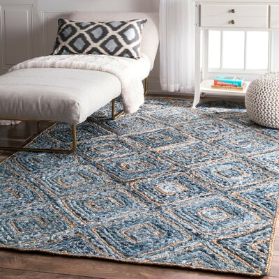 Merepoint Blue Area Rug Rug Size: 4 x 6
