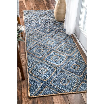 Merepoint Blue Area Rug Rug Size: Runner 26 x 8