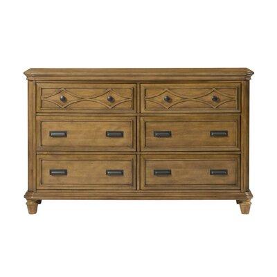 Westgate 6 Drawer Dresser Color: Honey