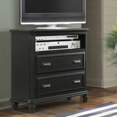 Westgate 2 Drawer Media Chest Color: Black